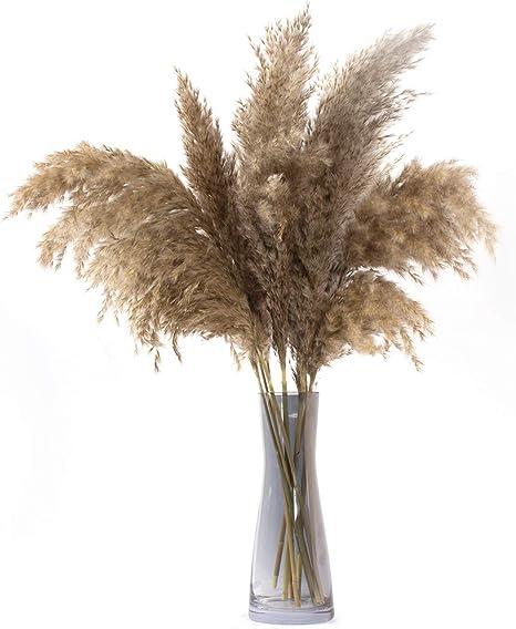 Wedding Decor Natural Dried Pampas Grass Gray Reed Bouquet Bunch Flower D5A8