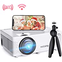 "$96 » VicTsing Mini WiFi Projector-4200L Wireless Bluetooth Projector with Tripod, 1080P 170""…"