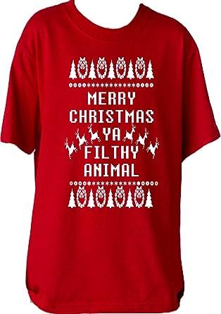 Animal Kingdom Christmas Shirt.Amazon Com Custom Kingdom Big Boys Merry Christmas Ya