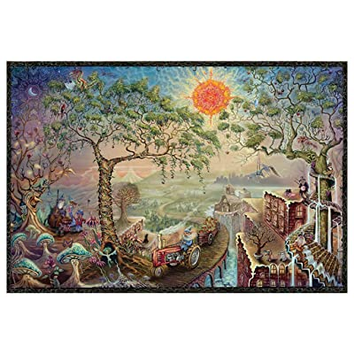 Puzzles for Adults 1000 Piece Large Puzzle, Fantasy World Landscape Jigsaw Puzzle with Cloth Pad Intellective Brain Teasers: Toys & Games