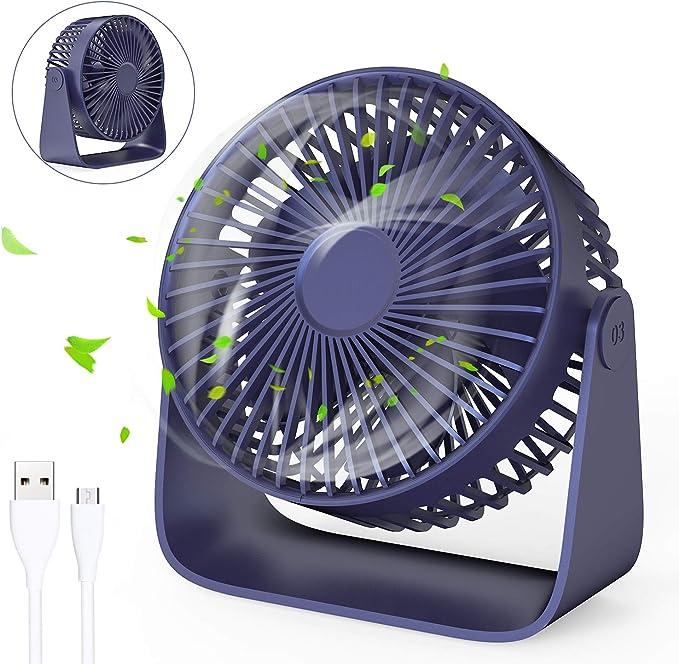 Jovego Mini Ventilador USB, Portátil Ventilador USB de Mesa ...