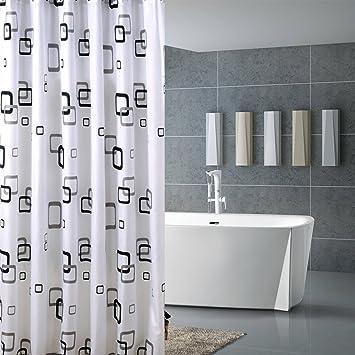 Bad Vorhang huaforcity duschvorhang 180 x 220 halbtransparente wasserdicht anti