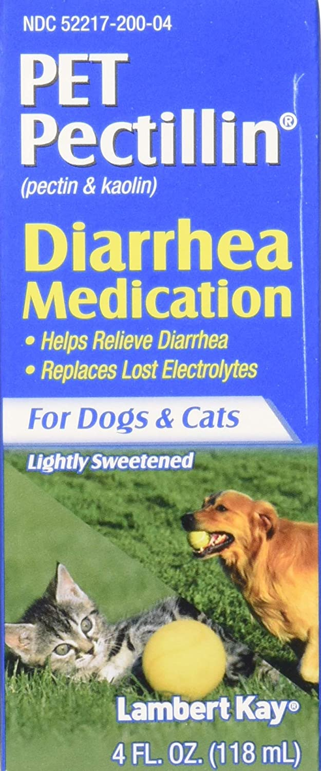 (3 Pack) Pet Pectillin Diarrhea Medication for Dogs and Cats, 4 fl. oz. Each