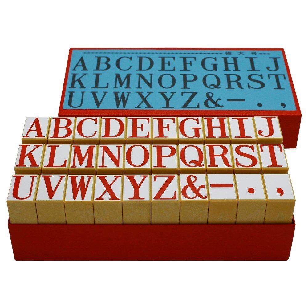(まとめ買い) シヤチハタ 柄付ゴム印 アルファベットセット 極大号 TEA-03 【×3】   B0722XF4J2