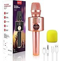 Wireless Karaoke Microphone, 5 in 1 Bluetooth Handheld Karaoke Mic Speaker, Portable Microphone Compatible with iOS…