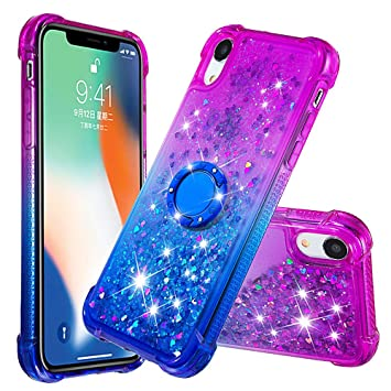 coque iphone xr bleu violet