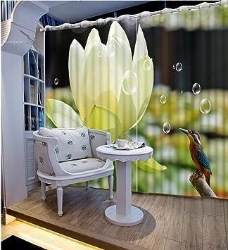 Wapel 3D-Vorhänge Für Wohnzimmer Lotus Vogel Moderne ...