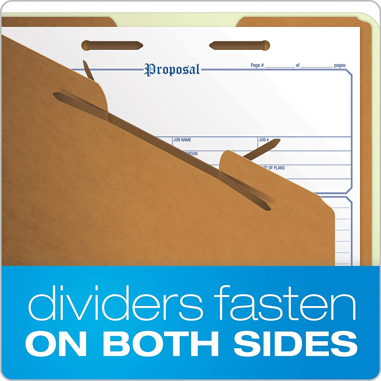 Green Letter Pendaflex 17173 Pendaflex Pressboard Classification Folders 6-Section 10//Box
