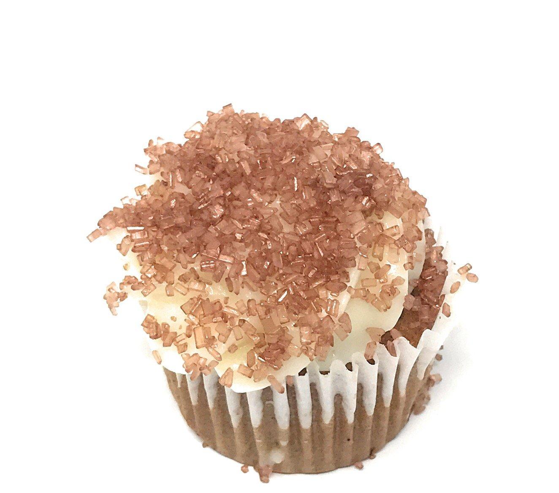 Ultimate Baker Copper Decorating Sugar - Kosher Certified Natural Large Crystal Decorating Sugar (1lb Bag Copper Color Sugar) by Ultimate Baker (Image #3)