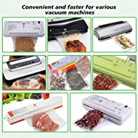 100 Count Starter Pack, Double Roll for Vacuum Sealer, Commercial Grade for Food Storage Food for Vacuum Sealer Sealing Vacuum Packer Food Saver Bag,Clear (Large:30 * 28cm)