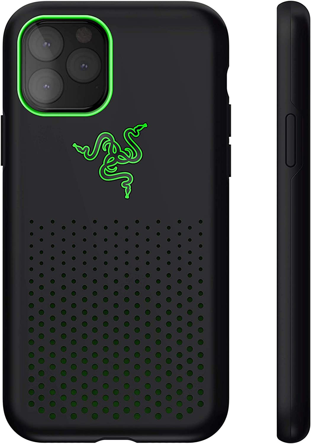 Razer Arctech Pro THS Edition for iPhone 11 Pro Max Case: Thermaphene & Venting Performance Cooling - Wireless Charging Compatible - Drop-Test Certified up to 10 ft - Matte Black