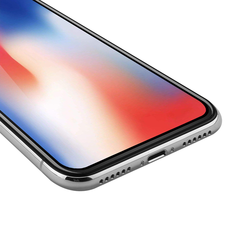 2 Unidades iPhone X Protector de Pantalla, WEOFUN 3D Pantalla Completa Vidrio Templado para iPhone X/iPhone 10 Cristal Templado 5.8 Pulgadas [0,33mm, ...