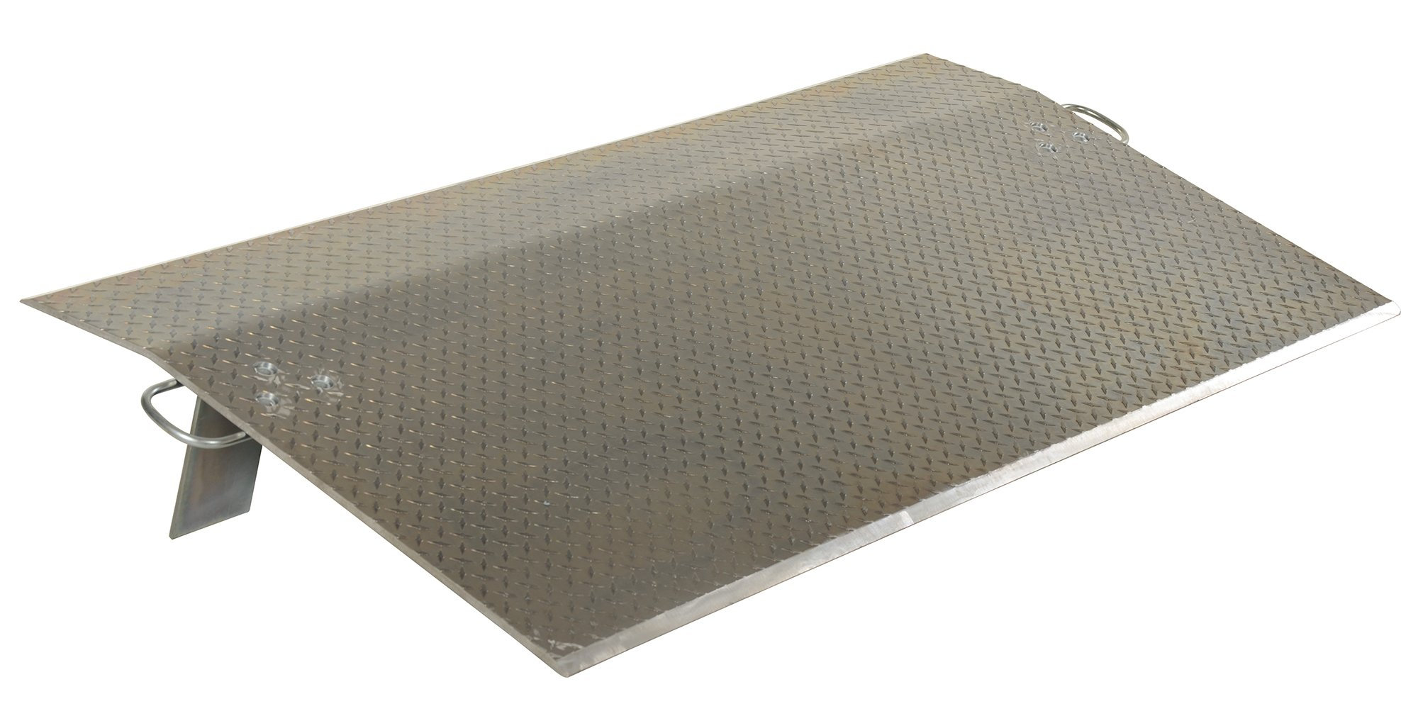 Vestil EH-7224 Aluminum Economizer DockPlate, 24'' Length, 72'' Usable Width, 1/2'' Plate Thickness, 11900 lbs Capacity