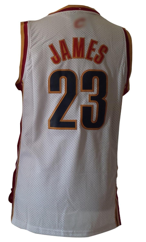 Cleveland Cavaliers 23 Lebron James personalizada Blanco Camiseta del tamaño XL: Amazon.es: Deportes y aire libre