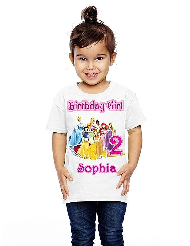 Ariel Princess Custom Applique Birthday Shirt