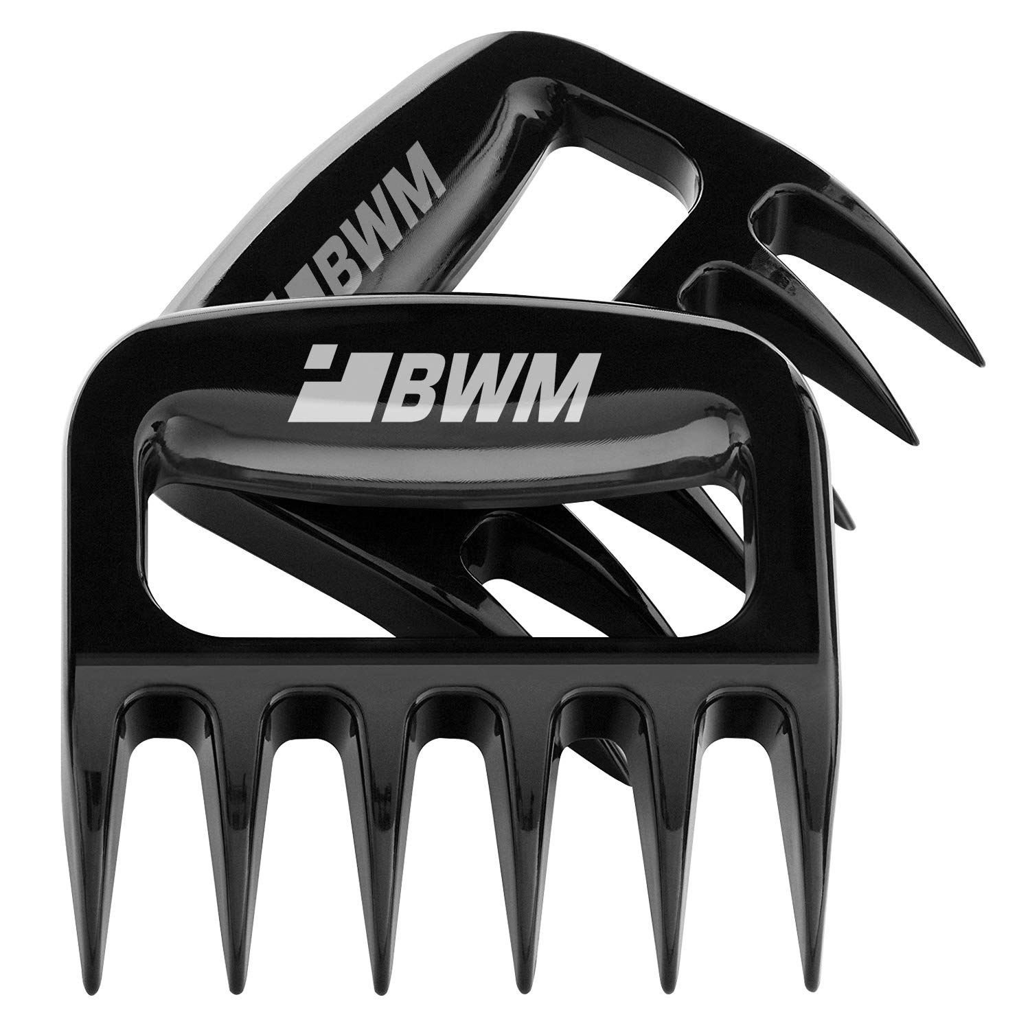 Meat Shredder Claws For Pulled Pork, YBWM Solid and Ultra-Sharp Blades BBQ Tool Meat Handler Forks for Shredding Handling & Carving Food, Barbecue Pulling Pork Shredder Claw Set of 2( Black) 71OcWKAOBYL