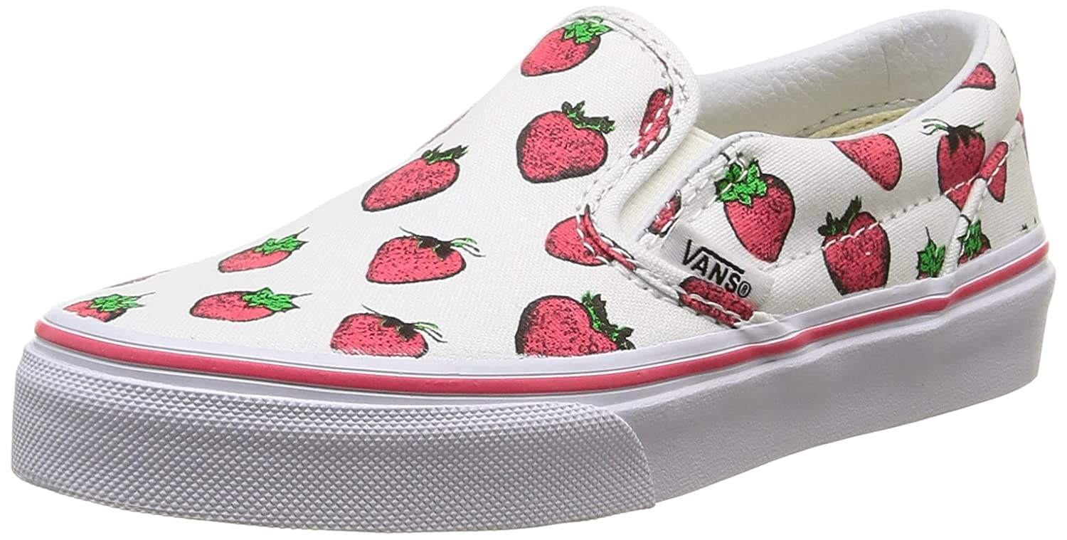 d276c52995 Amazon.com  Vans Kids Classic Slip-On Strawberries (4 Big Kid M ...