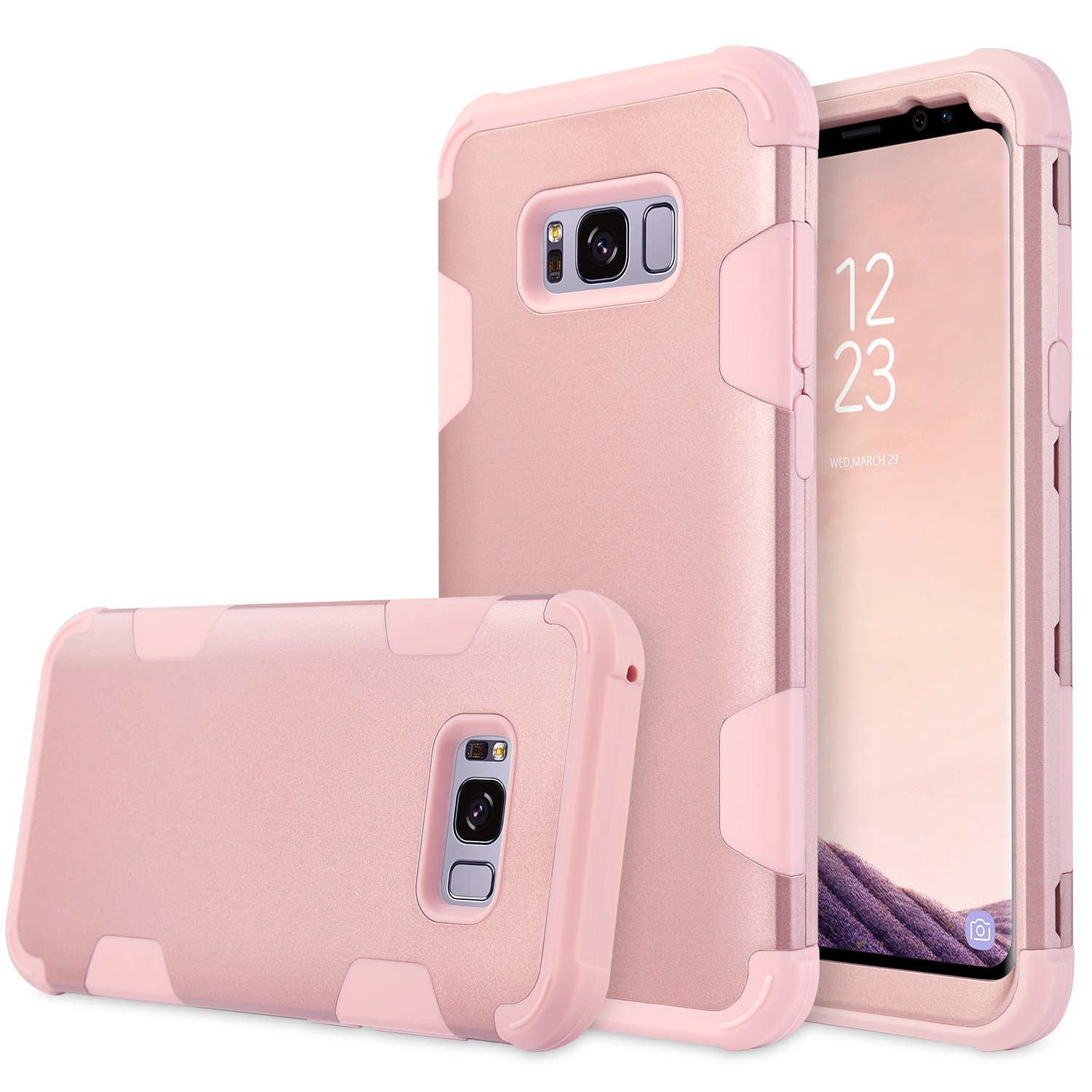 Galaxy S8 Plus Case, UrbanDrama 3 in 1 Drop-Protection Hard PC & Soft Silicone Combo Defender Heavy Duty Rugged Shockproof Bumper Full-Body Protective Case for Samsung Galaxy S8+ 6.2