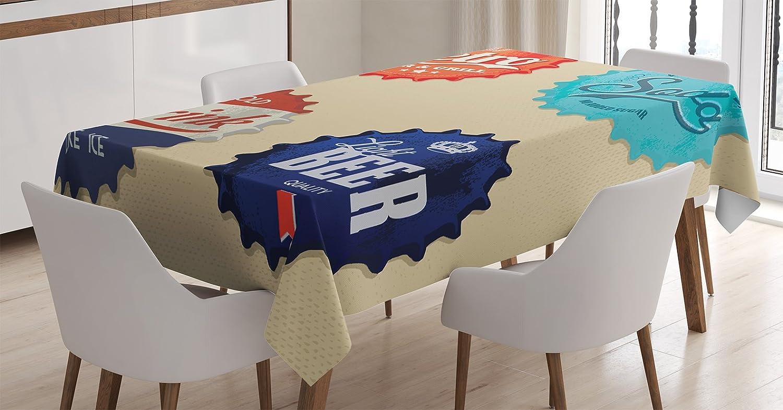 Amazon com: Ambesonne 1950s Decor Tablecloth, Retro Bottle