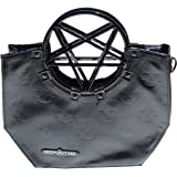 Vinyl Black Pentagram Handle Purse Gothic Halloween Kreepsville 666 Handbag