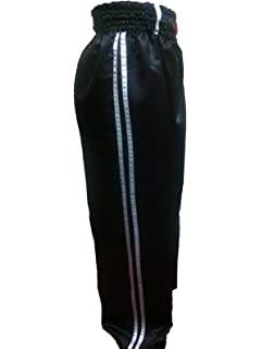 Adult Kickboxing Contact Trousers 100/% Cotton Coloured with contrasting stripes