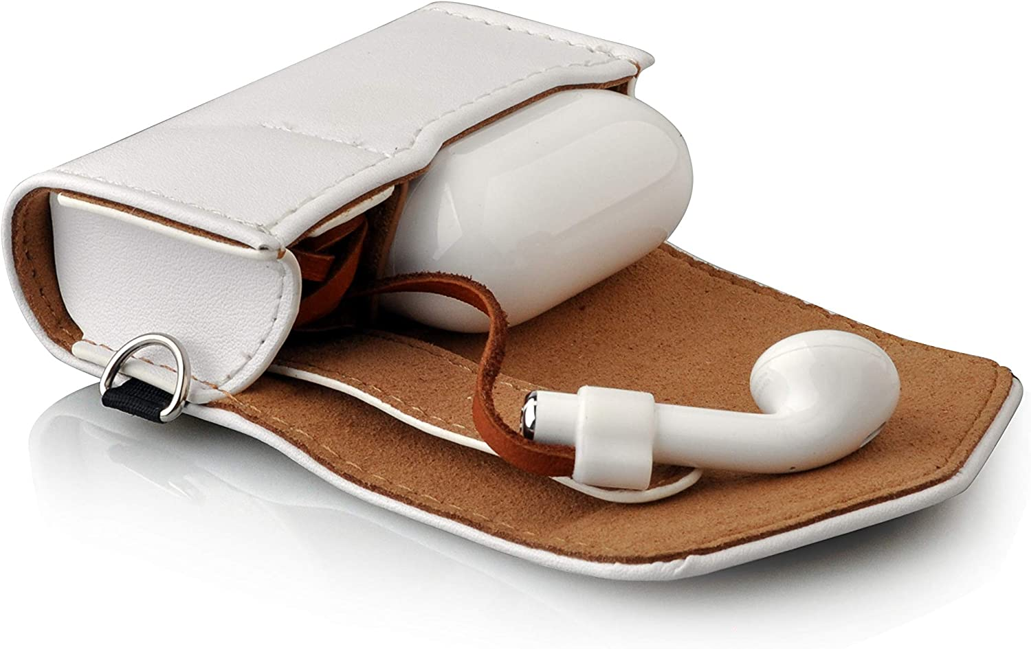 Rose Gold Thanksacase Embossed Pattern PU Leather Case 2 in 1 Combo Magnet Closure Cover for Apple AirPods and Airpods Strap. Airpods Case