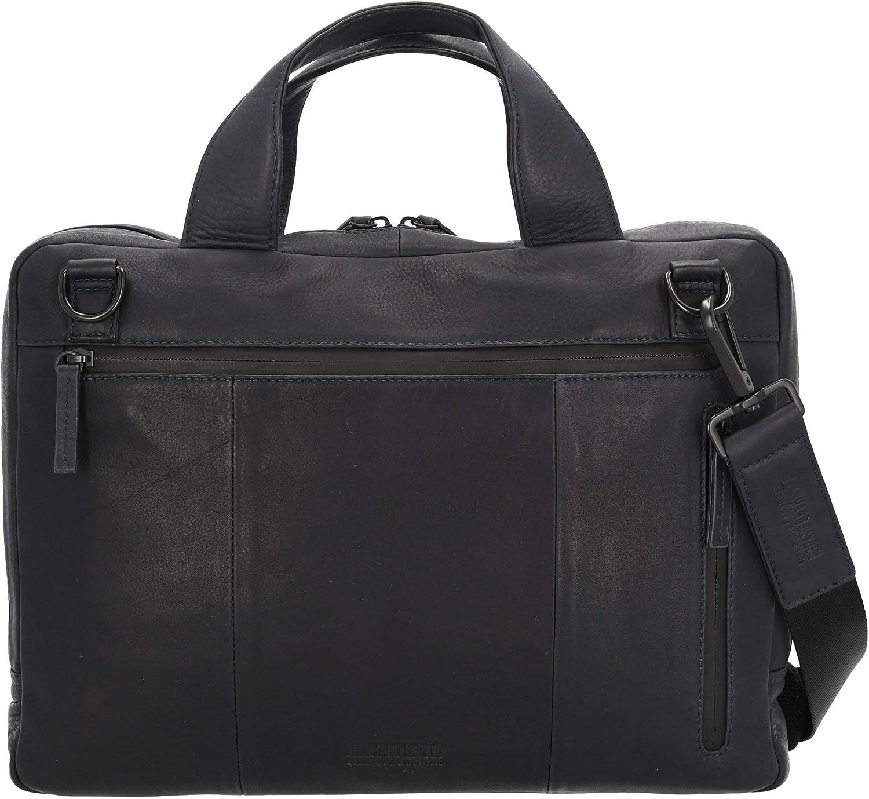 Leonhard Heyden Den HAAG Zip Briefcase 38 cm Black