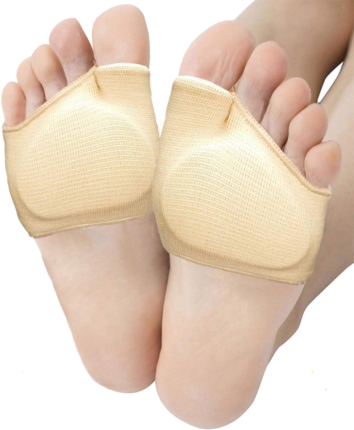 Metatarsal Sleeve Pads, Half Toe Bunion Sleeve with Sole Forefoot Gel Pads Cushion