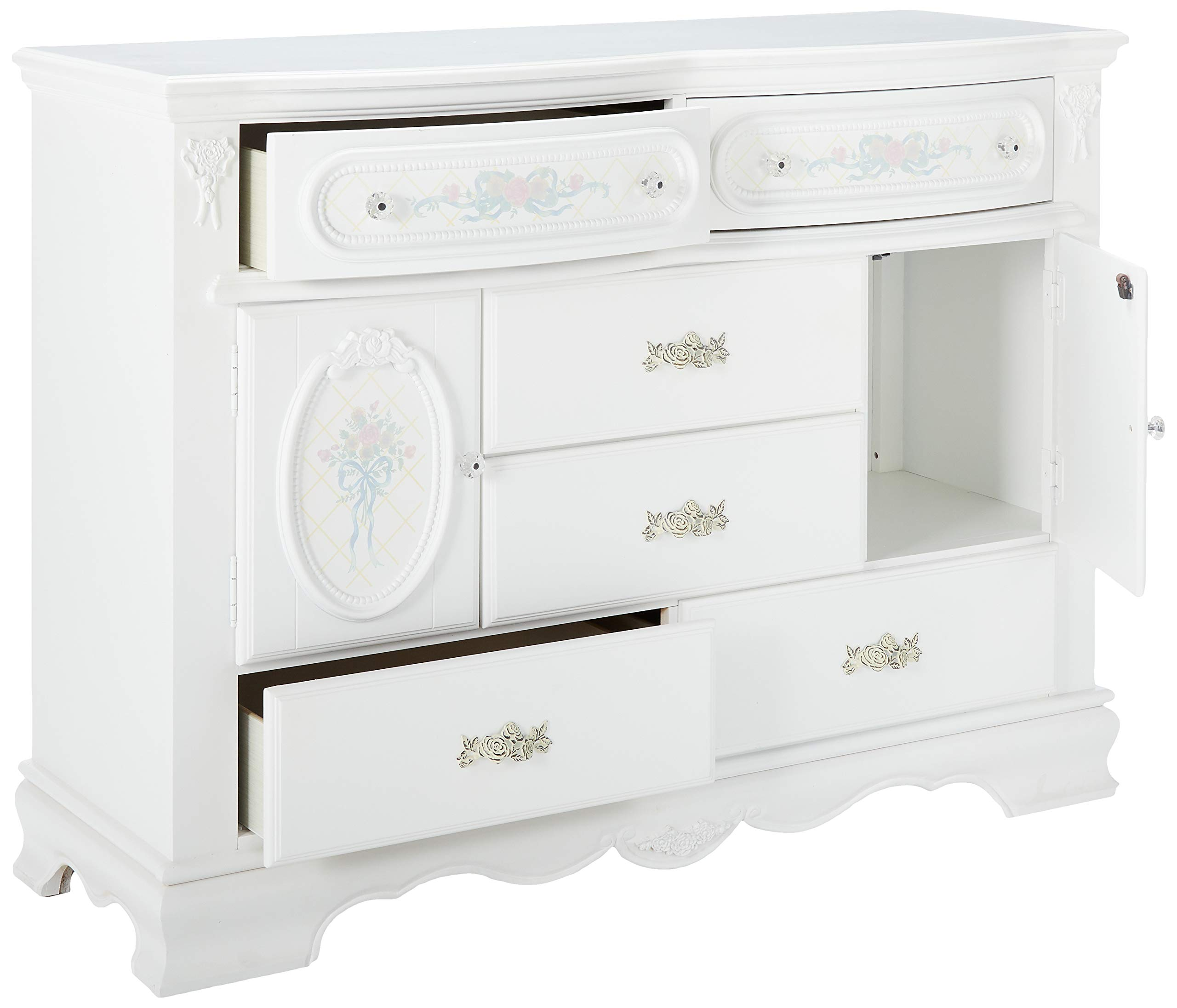 ACME Flora White Nightstand