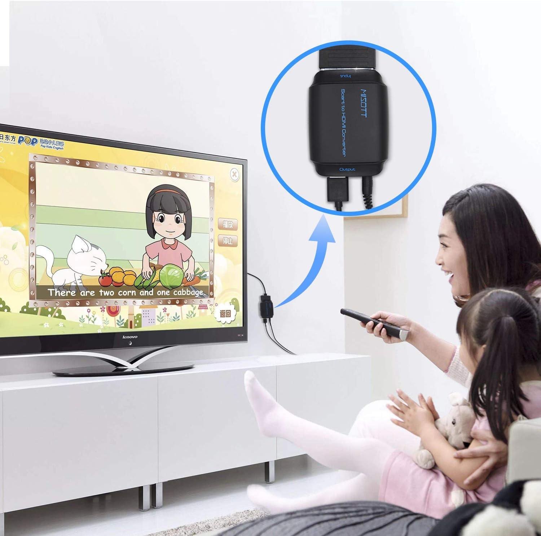 MISOTT Convertidor de Scart a HDMI, Convertidor de Scart a HDMI, Adaptador Scart HDMI, Entrada Scart Salida HDMI Adaptador: Amazon.es: Electrónica