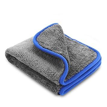 Paños de limpieza de microfibra, marca ZOEGATE, 1100g/m2. Toalla de microfibra