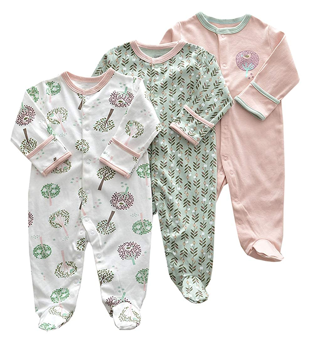 175b3e15a Amazon.com  AIKSSOO 3-Pack Infant Toddler Baby Boy Girls Printed ...