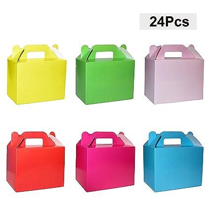 BELLE VOUS Cajas para Dulces (Pack 24) - 11x14x6cm Seis Cajas de cumpleaños Colores