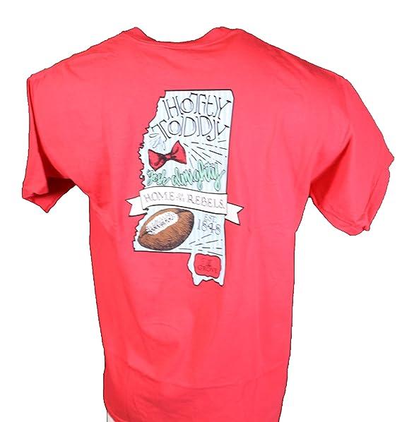 Ole Miss Bowties Footballs Comfort Colors T Shirt Paprika At