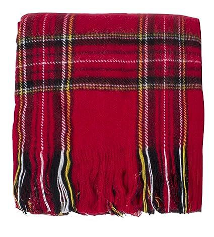 amazon com fennco styles classic red plaid design throw blanket