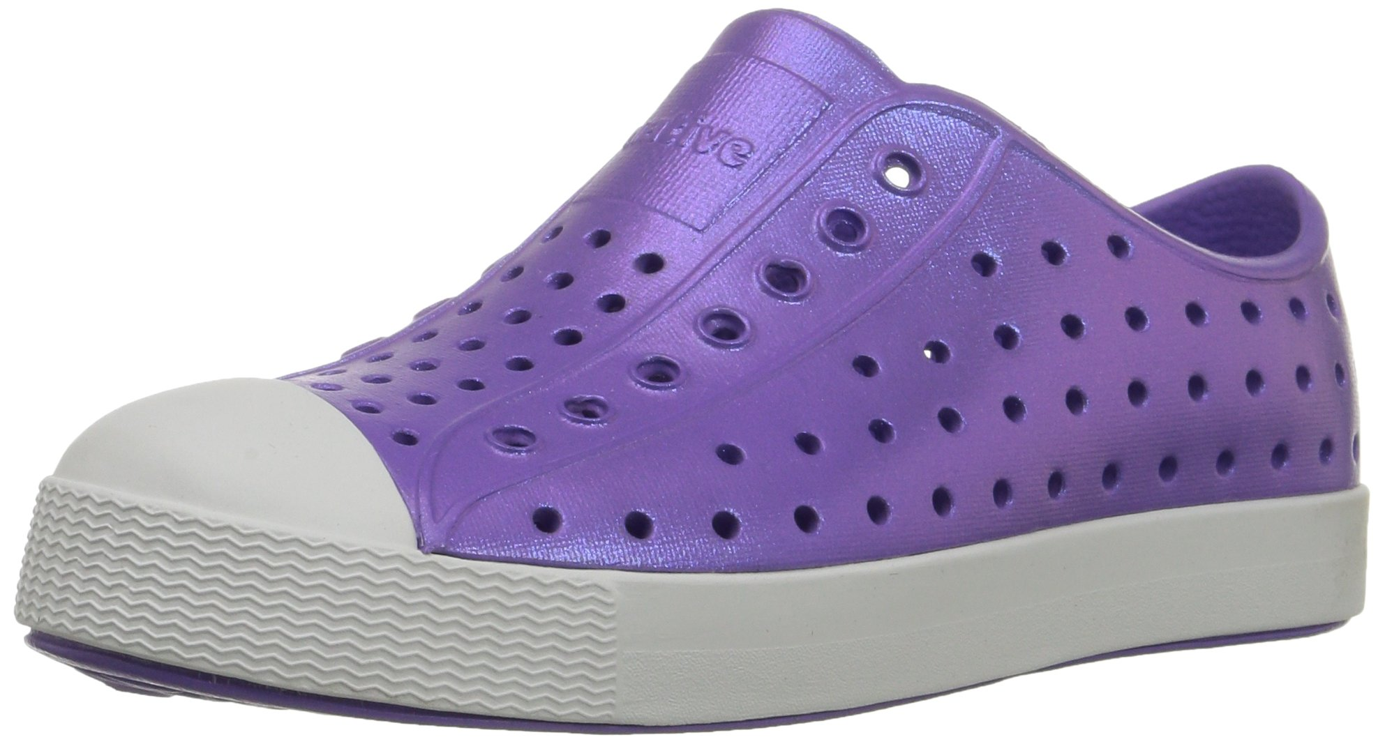 native Jefferson Slip-On Sneaker,Techno Purple Iridescence,7 M US Toddler