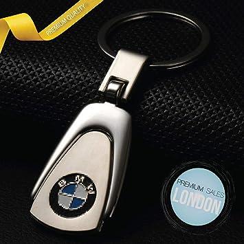 ELPCraft Leather Car Logo Keychain For Key Fob Keyring Gift for Man and Women Ford Black