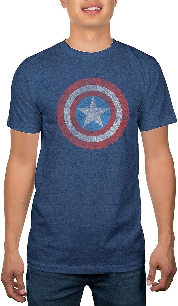 Marvel Capitán América Escudo T-Shirt: Amazon.es: Ropa y accesorios