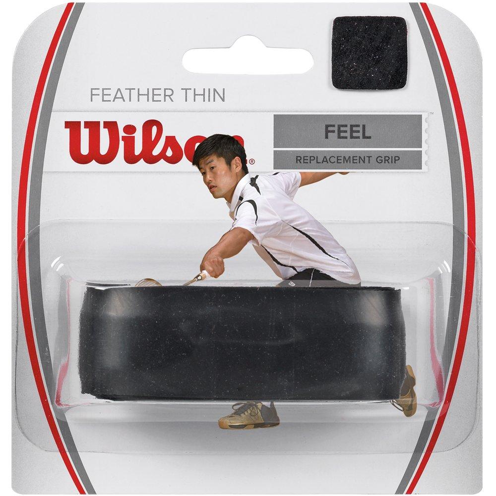 Featherthin Schwarz Ersatz-Griffband WRR934400 1,4 mm Dicke Wilson Badminton-Griffband