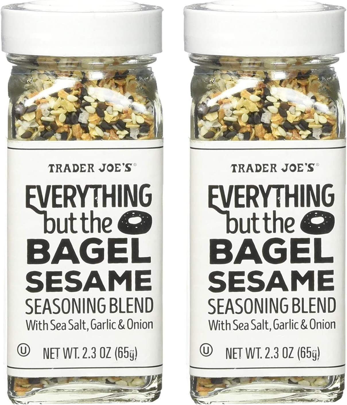 Trader Joe's Everything but the Bagel Sesame Seasoning Blend 2.3 oz (2 Pack): Health & Personal Care