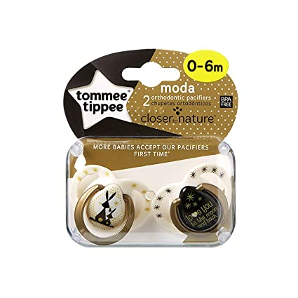 Tommee Tippee Closer to Nature – Moda: 2 x Chupete 0 – 6 m (Conejos)
