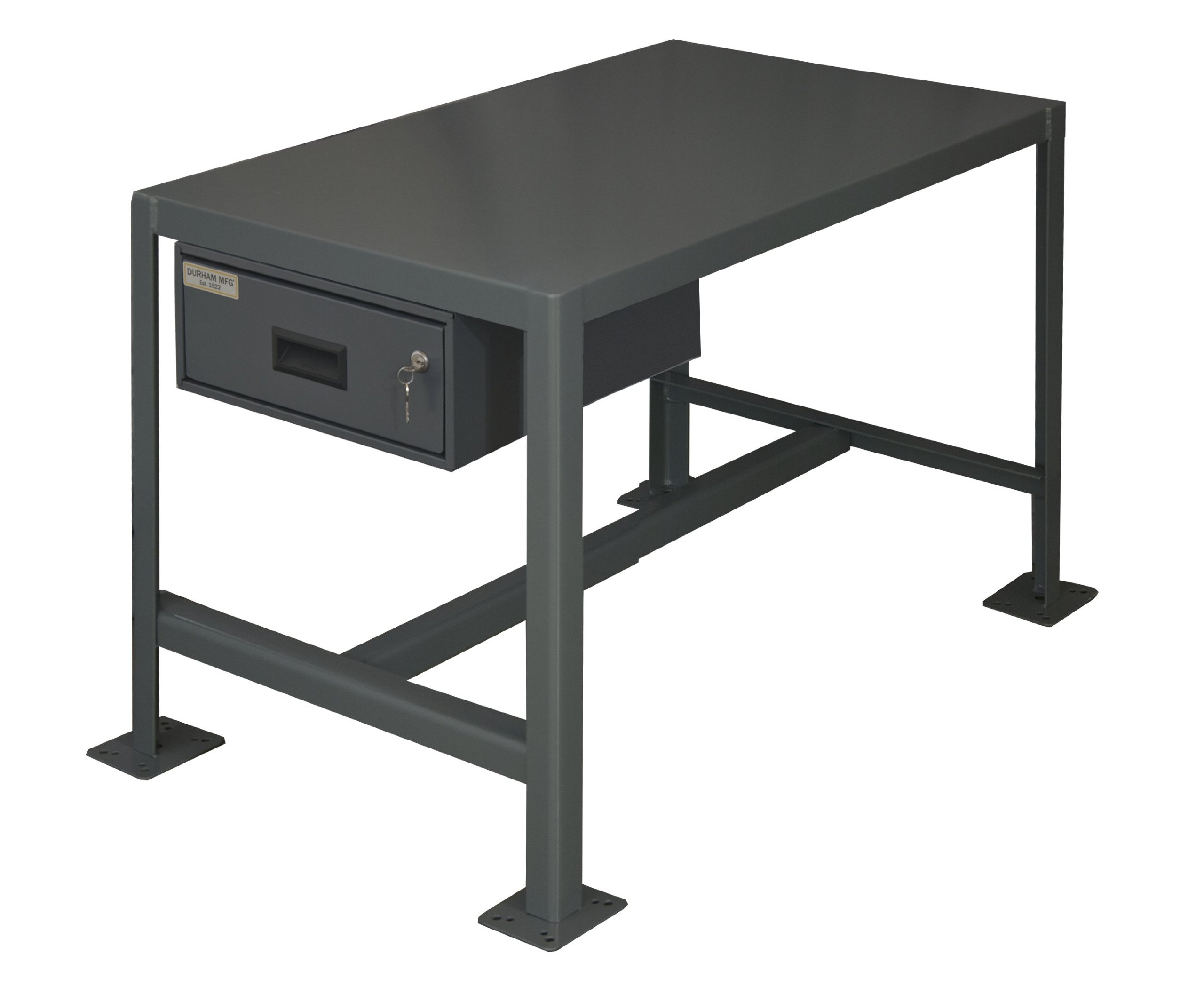 Durham Steel Medium Duty Machine Tables with Drawer, MTD182430-2K195,  1 Shelves,  2000 lbs Capacity,  24'' Length x 18'' Width x 30'' Height by Durham