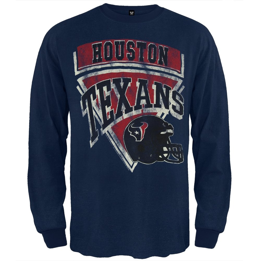 Amazon.com  Junk Food Houston Texans - Time Out Thermal Blue  Clothing e03aec069