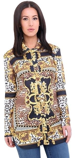 Momo&Ayat Fashions Camisas - Animal Print - Para Mujer Negro Negro 38 (EUR ...