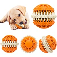 Dog Treat Ball Food Dispenser Toy for Teething, Interactive Tooth Cleaning Ball, Training Ball for Puppy and Small…