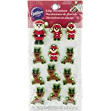 Wilton 710-3480 Christmas Santa and Elves Icing Decorations