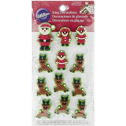 Amazon.com: Wilton 710-3480 Christmas Santa and Elves Icing ...