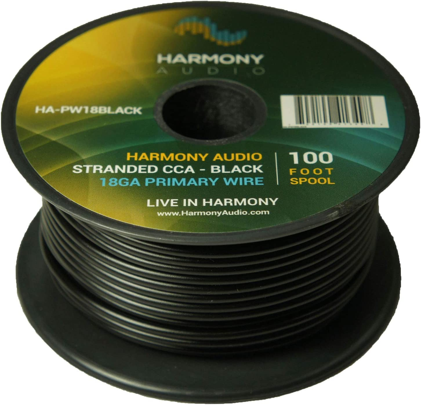 4 Rolls 4 Color Mix for Car Audio//Trailer//Model Train//Remote 400 Feet Harmony Audio Primary Single Conductor 18 Gauge Power or Ground Wire