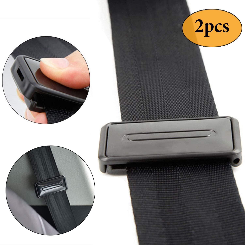 Newseego auto cintura di sicurezza regolabile, cintura di sicurezza clip | Smart regolare cinture a relax spalla collo offre una comoda e sicura | 2PCS nero