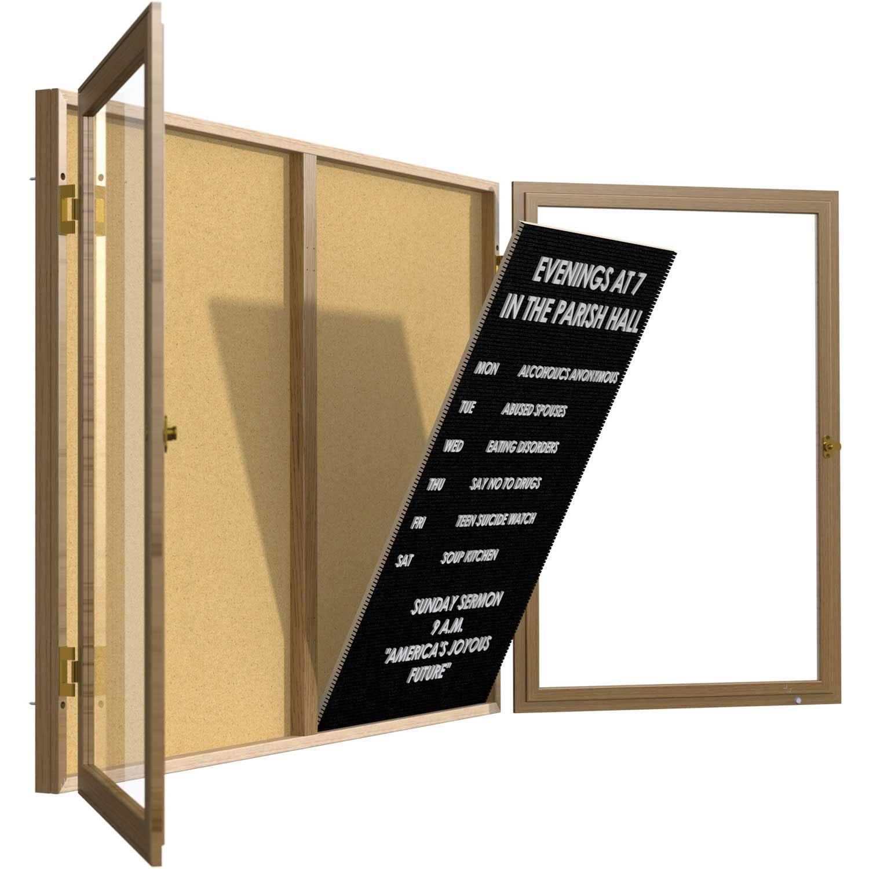 Ghent 48'' x 24'' Unframed Letter Board Insert Panel, Black (KW4824-BK)